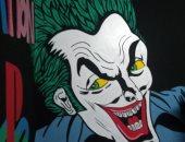 """صور.. قارئ يشارك بموهبته فى رسم جرافيتى لشخصيات كارتونية.. أشهرها """"الجوكر"""""""