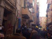 الحماية المدنية تنتشل جثامين 3 ضحايا فى حادث انهيار عقار كرموز بالإسكندرية