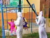 صور.. الداخلية تسمح لسجينات باستقبال أطفالهن وقضاء وقت معهم بحدائق السجون