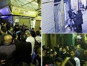 فيديو.. لحظة تمشيط خبراء المفرقعات لمنطقة حادث تفجير الدرب الأحمر الإرهابى