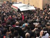 مدير أمن الجيزة يشارك فى الجنازة العسكرية لشهيد الدرب الأحمر محمود أبو اليزيد