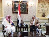 النائب العام يستقبل نظيره السعودى خلال مشاركته بالمؤتمر الإقليمى الأول للشرق الأوسط