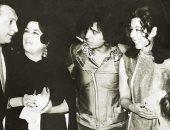 صورة نادرة تجمع رشدى أباظة وسامية جمال وليلى مراد مع انريكو ماسياس