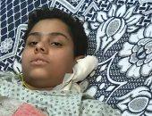طفل مصاب بحادث الدرب الأحمر: مش بنخاف من الإرهاب وبندعم بلدنا