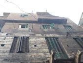 بالصور .. انهيار جزئى بعقار وسط الأسكندرية دون إصابات