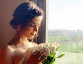 """صور.. رانيا منصور بفستان زفافها على حمادة هلال فى """"ابن أصول"""""""