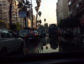 شاهد.. قارئ يشارك بصور انفجار مأسورة مياه فى شارع الخليفة المأمون