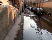شكوى من تراكم مياه الصرف الصحى بشارع الزهور فى شبرا