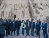 صور.. ختام زيارة 22 سفير ودبلوماسى أفريقى لمدينة أبو سمبل