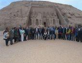 """رئيس """"أفريقية البرلمان"""" يشيد باحتفالية وزارة السياحة لـ16 سفيرا أفريقيا بأبو سمبل"""