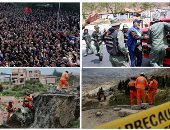صور..العالم هذا الصباح.. آلاف المحتجين يحاصرون مبنى البرلمان الألبانى للمطالبة باستقالة الحكومة.. اشتباكات مع الجيش الفنزويلى بعد منعه دخول المساعدات الإنسانية للبلاد.. انهيار أرضى فى بوليفيا