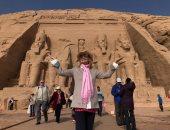 باربرا بوشيه بعد زيارة أبو سمبل: كل يوم يزداد إعجابى بحضارة مصر