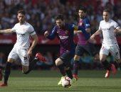 إشبيلية ضد برشلونة.. ميسي يتعادل للبارسا 2 - 2 فى الدقيقة 67