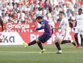 إشبيلية ضد برشلونة.. ميسي يسجل الهاتريك فى شباك الأندلسي بالدقيقة 85