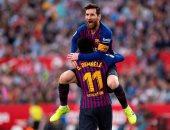 إشبيلية ضد برشلونة.. هاتريك ميسي يقود البارسا لرباعية مثيرة