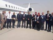 صور..مطار سفنكس الدولى يستقبل أول رحلة قادمة من اليونان