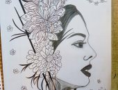 صور.. نورهان تشارك بموهبتها وتحلم بمعرض لرسوماتها