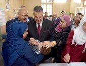 محافظ بنى سويف يطلق إشارة بدء الحملة القومية للتطعيم ضد مرض شلل الأطفال بالمحافظة