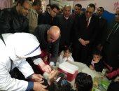 انطلاق الحملة القومية للتطعيم ضد مرض شلل الأطفال فى الشرقية وأسيوط و شمال سيناء والبحر الأحمر والوادى الجديد والأقصر (فيديو وصور)