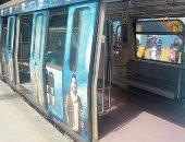 قارئة تشارك بصور كسر زجاج مفتاح الأمان داخل عربة المترو خط شبرا الخيمة