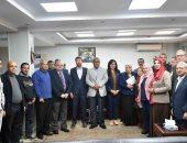 وفد الوكالة الأمريكية للتنمية يتفقد مشروع صرف صحى سلامون بسوهاج