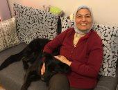 """أنا وأليفى.. مديحة تشارك بصورة كلبها """"كيرا"""" : بتحب تلعب معايا"""