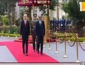 شاهد.. مراسم الاستقبال الرسمية للرئيس الألبانى بقصر الاتحادية