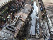 صور.. السكة الحديد: حريق محطة مصر برمسيس بسبب تصادم جرار قطار برصيف المحطة