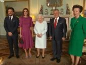 شاهد.. ملكة بريطانيا تستقبل الملك عبد الله والملكة رانيا
