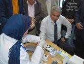 صور..محافظ المنيا يجرى فحوصات فيروس سى خلال إطلاق مبادرة 100 مليون صحة