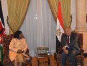 صور.. سامح شكرى يلتقى وزيرة خارجية كينيا ويعقدان جلسات مباحثات