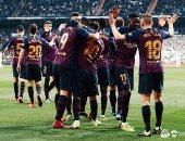 برشلونة ضد أولمبيك ليون.. ديمبلي يسجل الخامس في الدقيقة 86