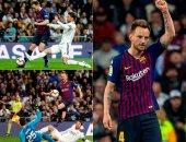 كل أهداف السبت.. برشلونة يحرج الريال ويونايتد يحقق الريمونتادا