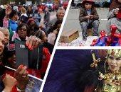 """صور.. العالم هذا الصباح.. كرنفال بلاد الأنديز بشوارع العاصمة البوليفية لاباز.. جولة لكورى بوكر مرشح الولايات المتحدة للرئاسة 2020 فى الاباما.. وعروض لكرنفال """"سامبادروم""""  فى ريو دى جانيرو"""
