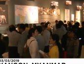 """شاهد..  ميانمار تفتتح """"متحف الفيلة"""" بعد تحطيم كمية كبيرة من العاج"""