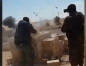 شاهد..إرهابيون يفجرون أنفسهم أمام قوات سوريا الديمقراطية فى الباغور