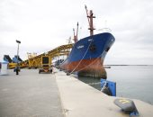 على أرصفته البحرية الجديدة.. ميناء شرق بورسعيد يستقبل ثالث سفينة عالمية