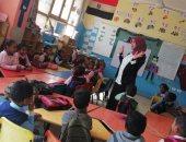 """صور.. """"صحة أسوان"""" تنظم ندوات توعية بأمراض التقزم والأنيميا لتلاميذ مدارس إدفو"""