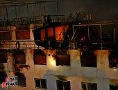 حريق هائل فى باخرة بالمعادى.. والحماية المدنية تدفع بـ 16 سيارة إطفاء