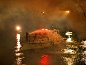 صور.. مصدر أمنى: لا يوجد أى مصابين حتى الأن فى حريق باخرة المعادى