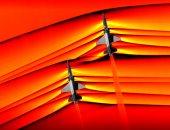 ناسا تلتقط أول صورة لاختراق طائرتين موجات حاجز الصوت