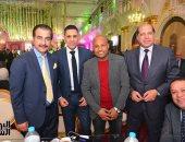 صور ..ضياء ونادر السيد وعلاء نبيل فى حفل زفاف إبن علاء شاكر