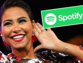 شيرين تتصدر قائمة Spotify للمطربات الأكثر استماعاً بالشرق الأوسط