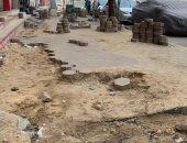 صور..مطالب بإعادة إصلاح شارع الوقاد فى الزيتون بعد تكسيره لتوصيل المرافق