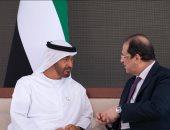 ولى عهد أبو ظبى يستقبل رئيس جهاز المخابرات العامة المصرية.. صور