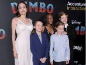 """""""فى أجواء عائلية"""".. أنجلينا جولى تحضر عرض Dumbo مع أبنائها"""