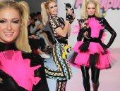 """باريس هيلتون تتحول لبطلة """"power puff girls"""" بعرض أزياء كريستيان كوان"""