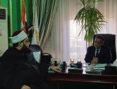 """نائب رئيس """"عين شمس"""" يفتتح لقاء الشيخ أحمد تركى رئيس مركز بحوث الدعوة بالطلاب"""