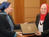 صور.. وزيرة البيئة: عصر الرئيس السيسى يشهد تمكين حقيقى للمرأة المصرية