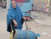"""""""ست الناس"""" تركها أبناؤها الـ6 فأنفقت على نفسها بتوزيع أسطوانات الغاز"""